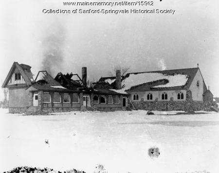 St. George's Episcopal Church, 3 Emerson Street, Sanford, After the Fire, 1908