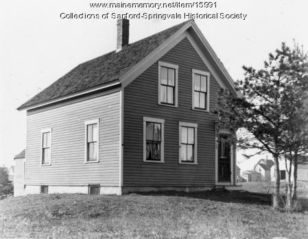 House, probably on School Street, Sanford