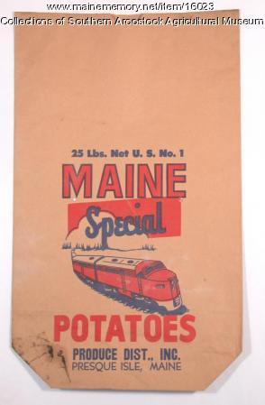 Maine Special potato bag, Presque Isle, c. 1950