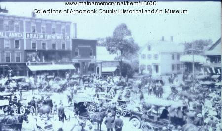 Market Square, Houlton, July 4th, 1914