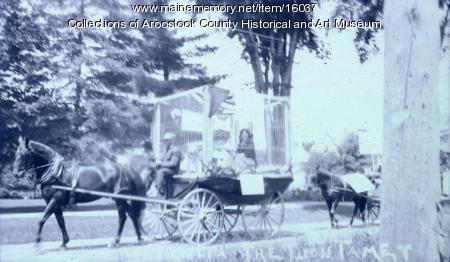 Nita the Lion Tamer, Houlton Parade, 1914