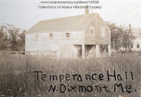 Temperance Hall, North Dixmont, ca. 1900