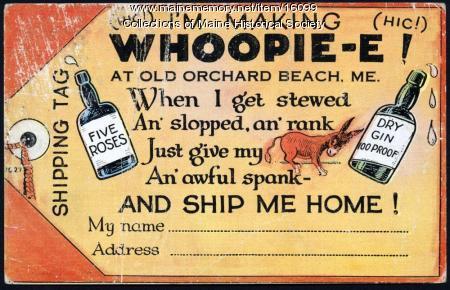 Overindulgence post card, 1938