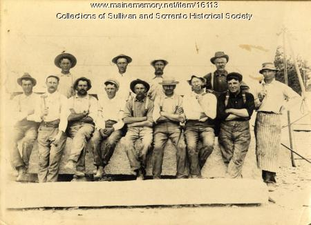 Quarry workers in Sullivan/Sorrento, ca. 1920
