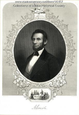Abraham Lincoln engraving, ca. 1849