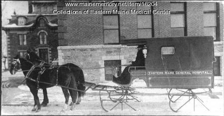 First ambulance, Eastern Maine General Hospital, 1900