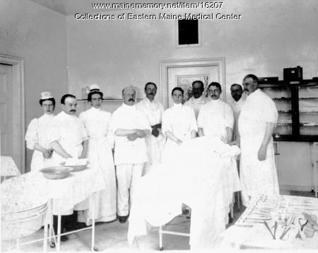 Surgical unit, Bangor General Hospital, 1899