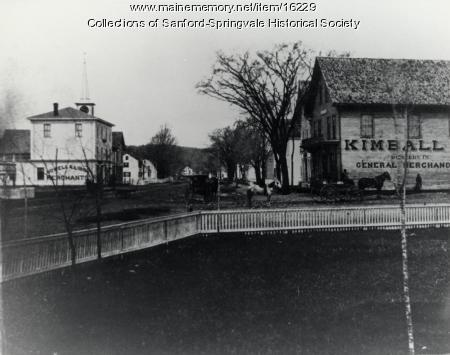 The Square from Lawn of Willard House, Sanford, ca 1883
