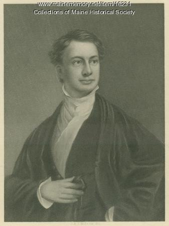 Engraving of Longfellow after Thomas Badger, ca. 1829