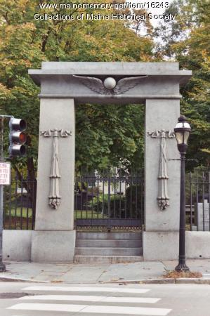 Gateway to the Colonial Jewish Cemetery of Newport