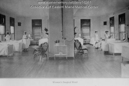 Women's Surgical Ward, Eastern Maine General Hospital, Bangor, ca. 1910