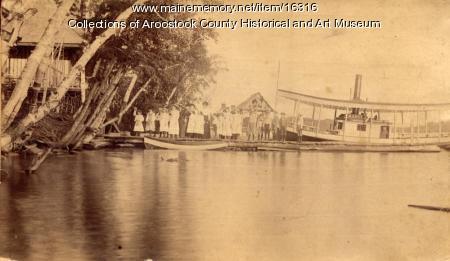 The Mabel at dock, Nickerson Lake, ca. 1895