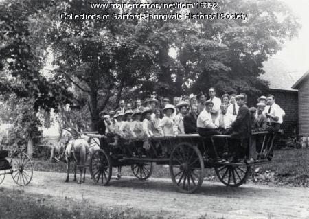 Excursion By Horse-Drawn Wagon, Sanford