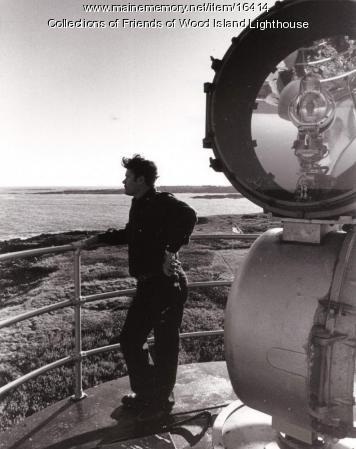 Aerobeacon at Wood Island Lighthouse, Biddeford, c. 1980