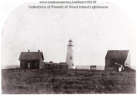 Wood Island Lighthouse dwelling house and barn, Biddeford, ca. 1859