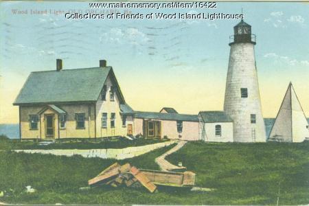 Wood Island Lighthouse, Biddeford ca. 1890