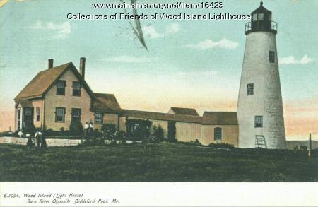 Postcard Wood Island Lighthouse, Biddeford  c 1902