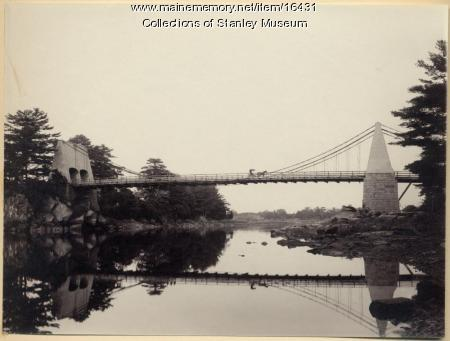 Old Chain Bridge over the Merrimack River, circa 1893