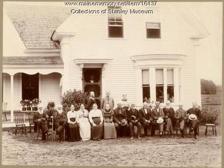 Durrell family elders, Kingfield, 1899