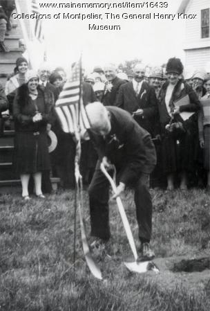 Groundbreaking for the Knox Memorial, 1929
