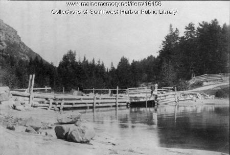 Fernald's Cove Bridge, Southwest Harbor, 1892