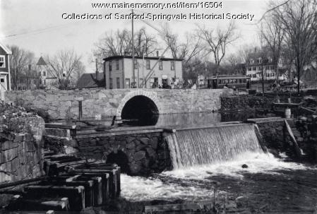 The Dam at Bridge Street, ca 1907