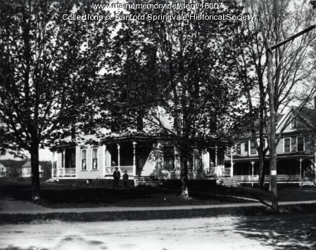Residences on Main Street, Springvale, ca 1910