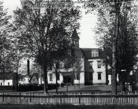 Longfellow School, School Street, Sanford, ca 1895