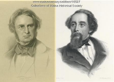 Image of Charles Dickens and Longfellow