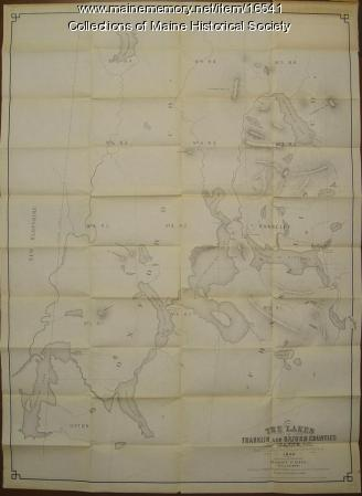 Lakes of Franklin and Oxford counties, Maine map