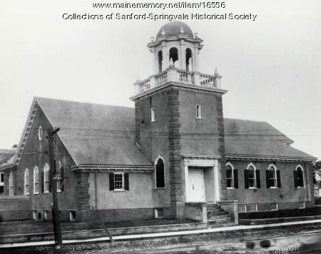 The New Unitarian Church, corner Main & Lebanon Streets, Sanford, ca 1918
