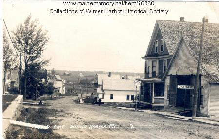 Main Street looking east, Winter Harbor, ca. 1920