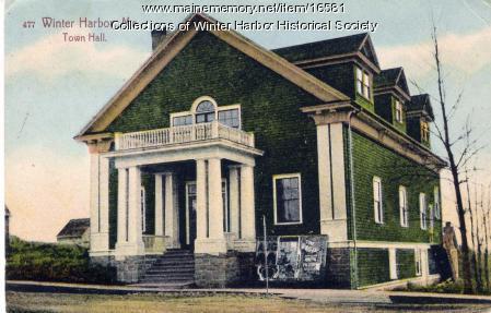 Winter Harbor Town Hall, ca. 1907