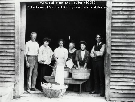 Four Sanford Ladies Smile Their way Through Washday, ca 1900