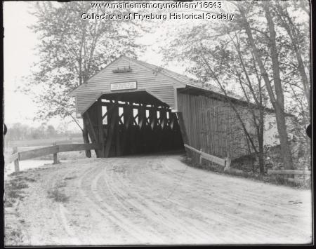 Weston's Covered Bridge, Fryeburg, ca. 1900