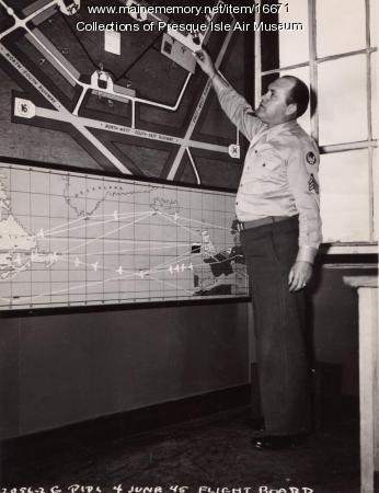 Air traffic controller, Presque Isle, 1945