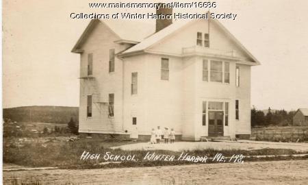 Winter Harbor High School, ca. 1915