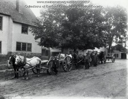 Teams of Horses on Kimball Street, Sanford, ca 1900