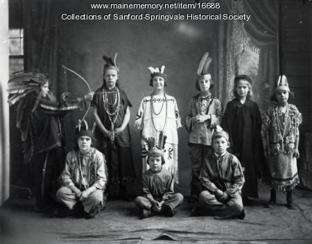 Nine Children in Costumes, Sanford, ca 1900