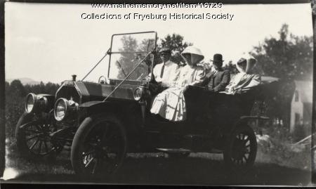 Automobile touring, Fryeburg, ca. 1900