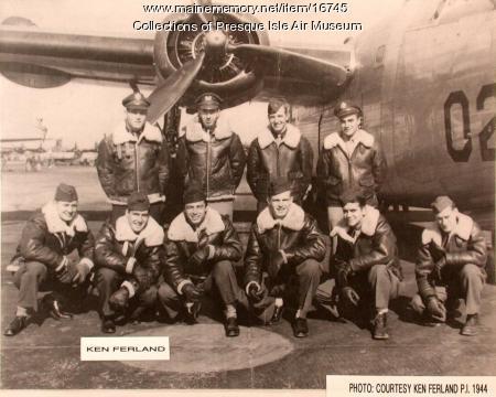 B-24 Liberator Bomber Crew, Presque Isle, ca. 1943