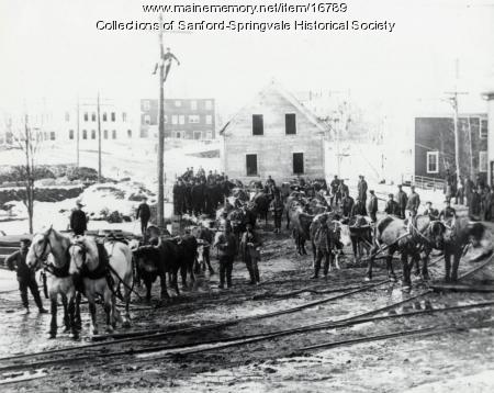 Moving a Building, Springvale, ca 1906