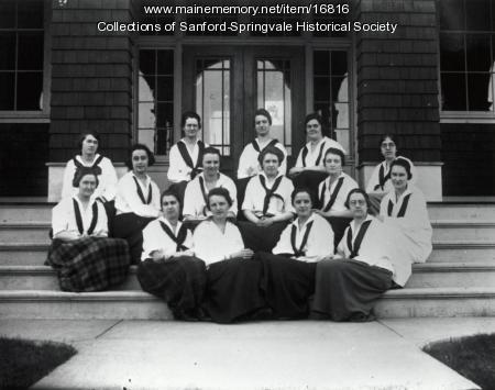 Nasson students, Springvale, ca. 1915