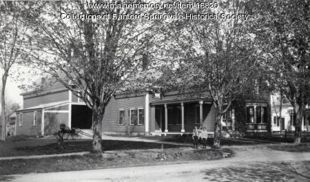 Home of Dr. Fred A. Bragdon, Main Street, Springvale, ca 1900
