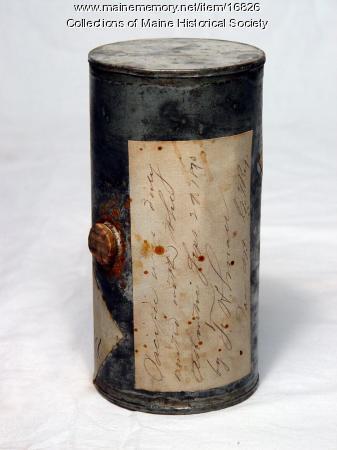 Ocean water can, 1873