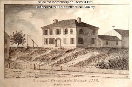 Goodhue drawing of Samuel Freeman house, 1895