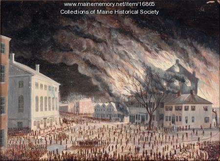 The Burning of the American House, 1852