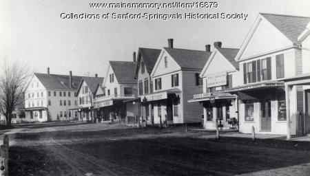 Main Street Looking North, Springvale, ca 1890