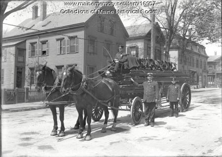 Ladder 1 and crew, Portland, ca. 1912