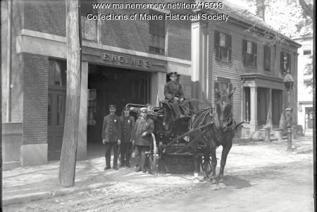 Brackett Street Firehouse, Portland, ca. 1912
